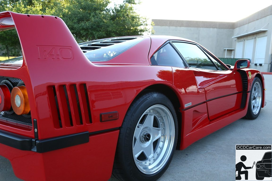 Ferrari F40 Full Paint Correction Detail & Glass Coating in Los Angeles and Pasadena, Ca.