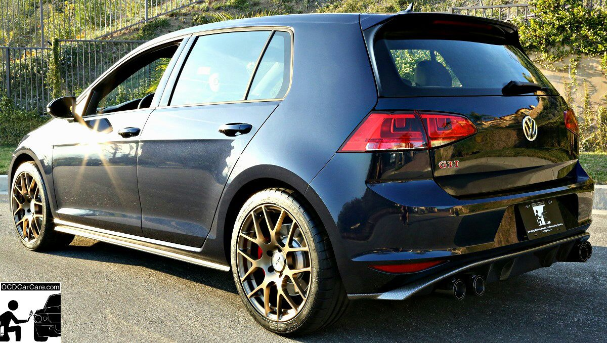 2016 GTI paint was fully enhanced & protected by OCDCarCare Los Angeles CQuartz Finest Treatment.