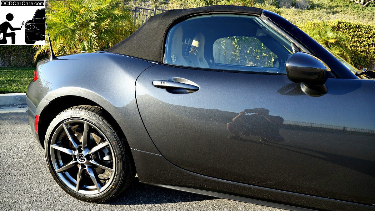 Los Angeles car culture loves that hyper glossy finished as seen on this Mazda Mx-5.