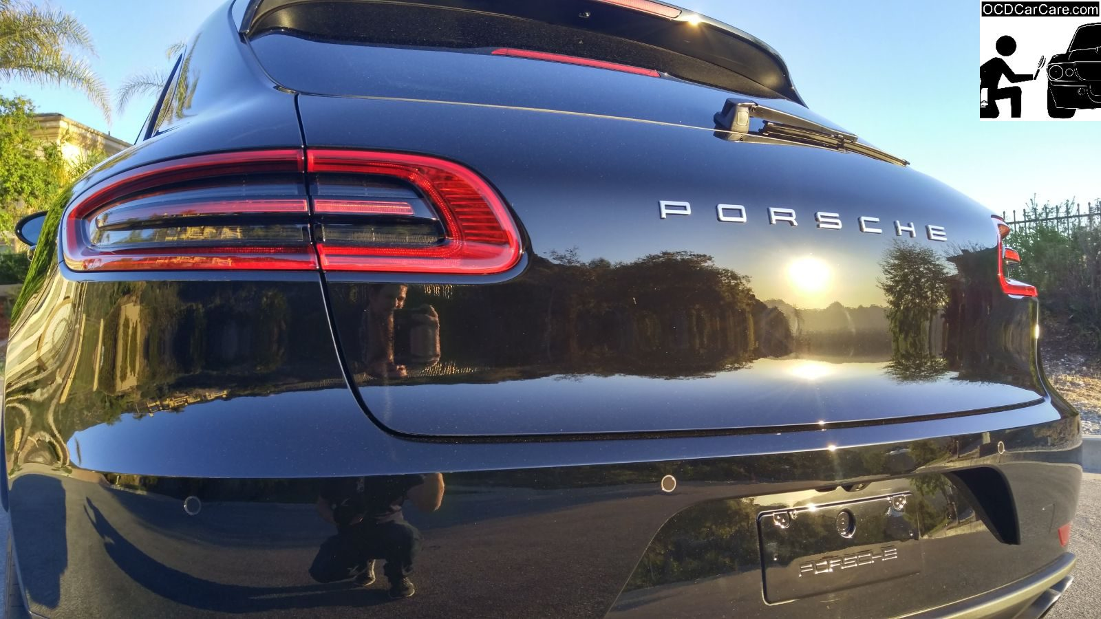2016 Porsche Macan Reflects everything in sight after OCDCarCare Los Angeles full paint polishing & Ceramic Nano Coating.