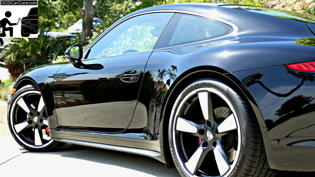 911 50th paint is vibrant, glossy and reflective after paint polishing & ceramic nano coating by OCDCarCare Los Angeles.