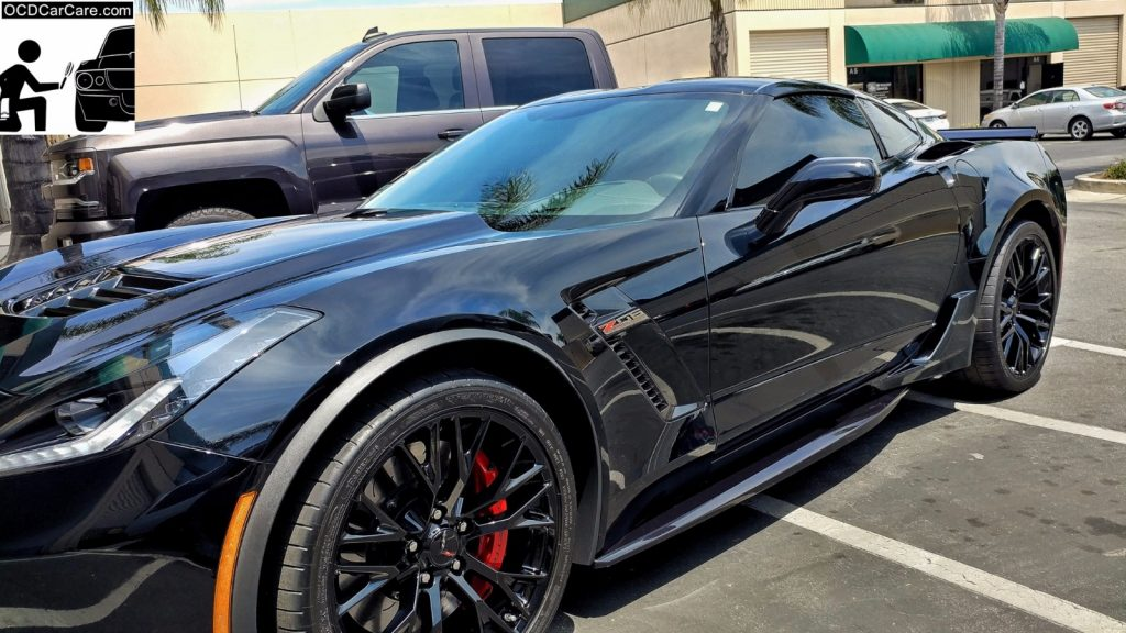 The sun doesnt lie when looking at this Fully Paint Corrected and Feynlab Pro Ceramic Nano Coated Corvette Z06 by OCDCarCare Los Angeles.