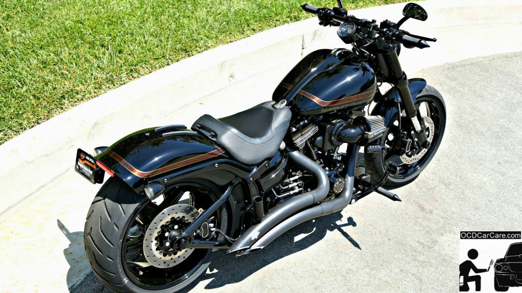 Special Edition Harley Davidson CVO received a full paint correction & pro ceramic nano coating detail by OCDCarCare Los Angeles