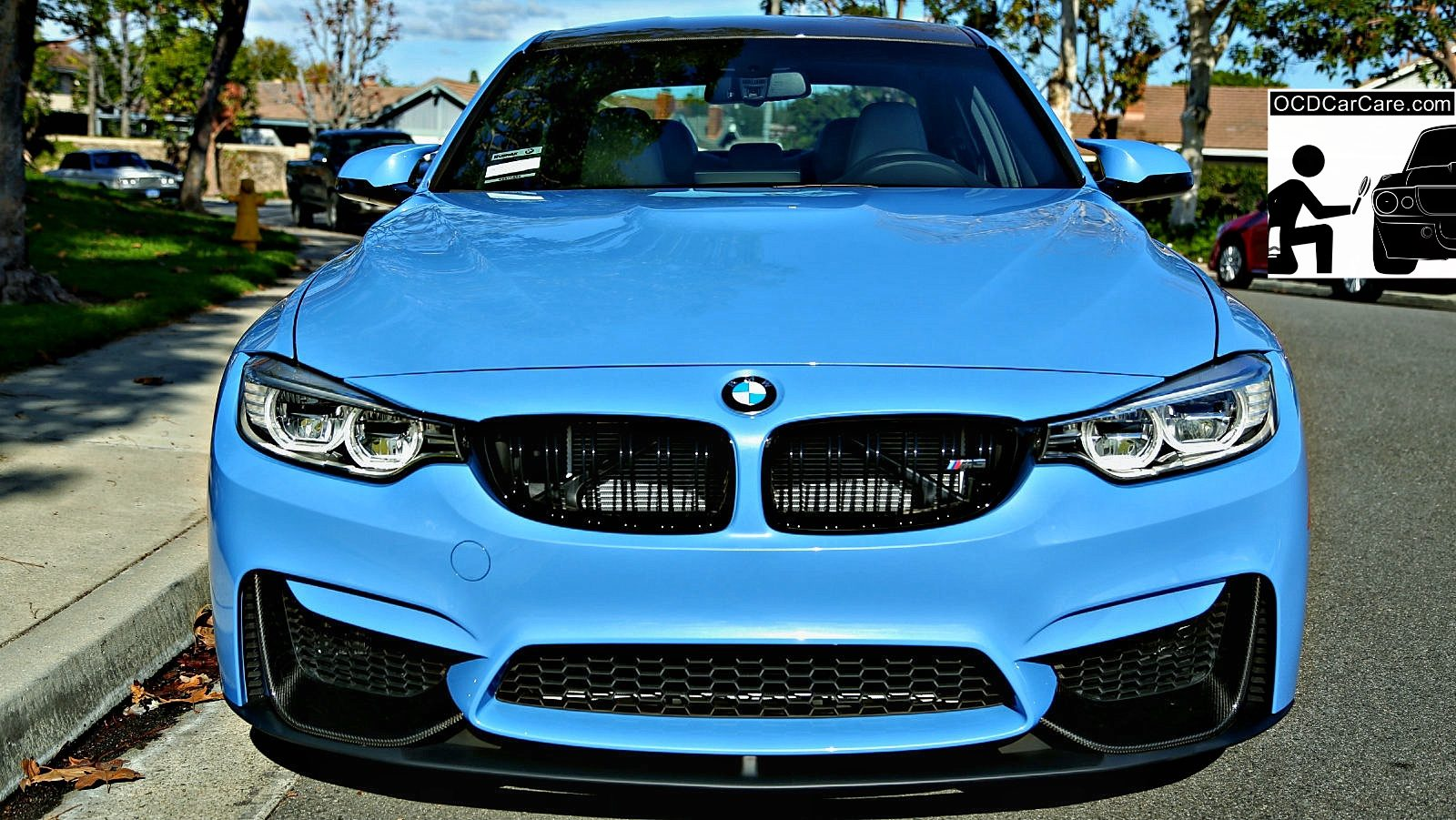 This Yas Marina BMW M3 displays beauty power & elegance afer a pro ceramic nano coating detail by OCDCarCare Los Angeles