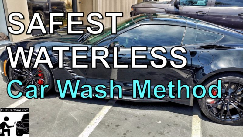 Best & Safest Waterless Car Wash technique in auto detailing and car care, courtesy of OCDCarCare Los Angeles