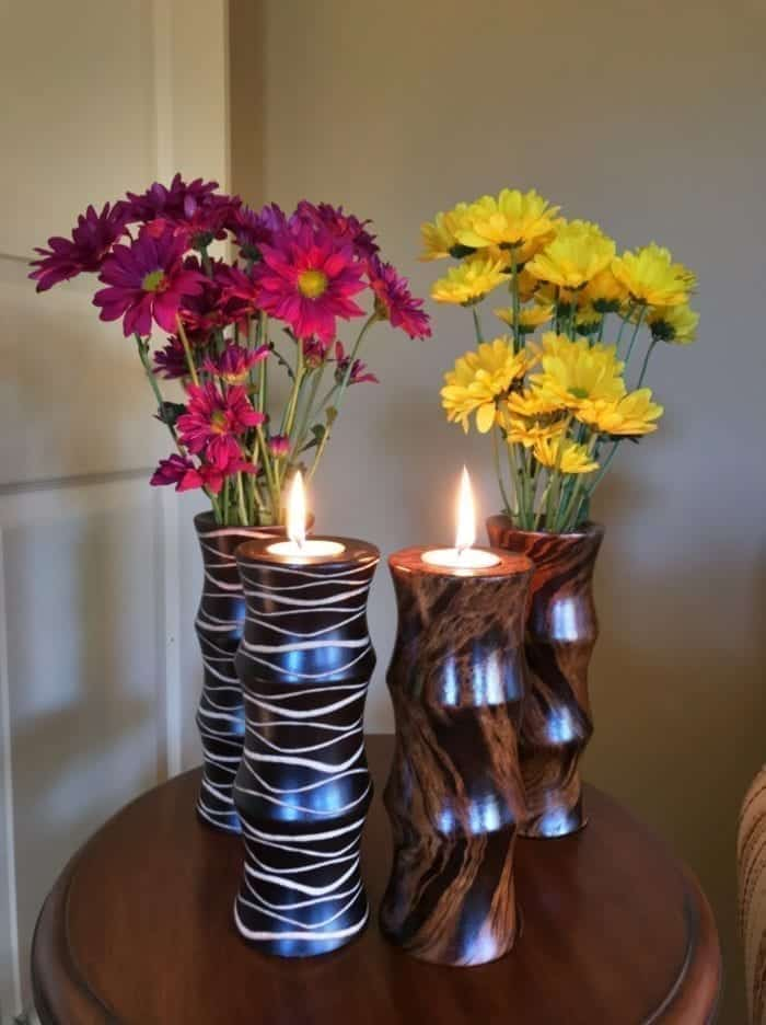 Vase and Candle Holder Combo