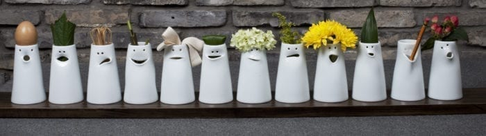 The 12 Vases of Faces