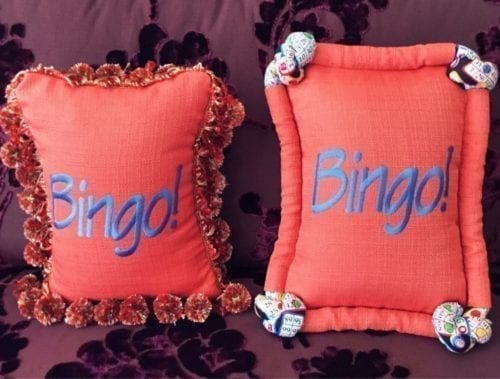 Bingo! pillow